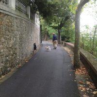 A walk along Montecatini Alto's wall