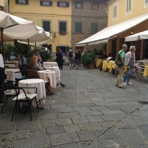 The piazza in Montecatini Alto